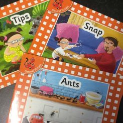 100% decodable phonics books using the first sounds set 1a