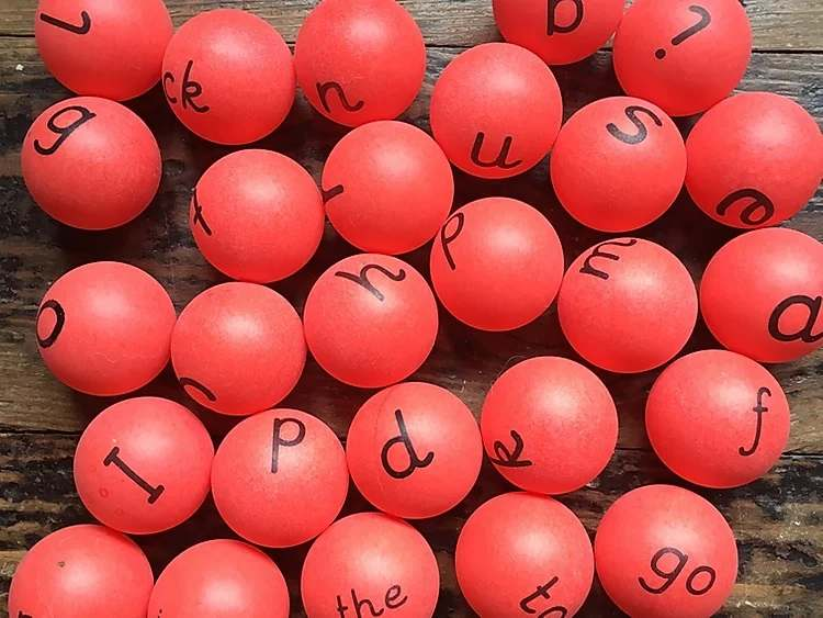 26 phase 2 ping pong balls and shooters- tricky words - Gallery 1