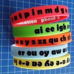 Adult size phonics wristbands