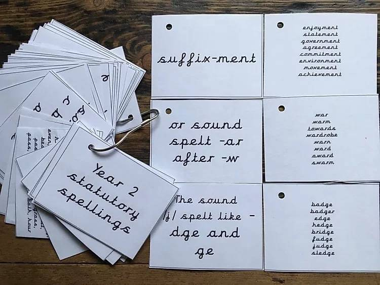 CURSIVE Statutory spellings PDF keyring for years 1 and 2 - Gallery