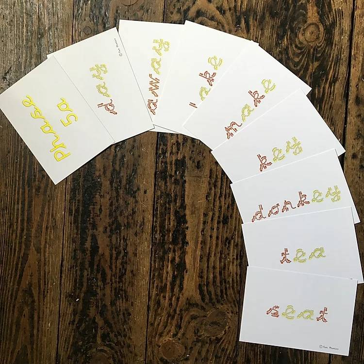 Cursive, wipe clean, phonics flash cards 2, 3a, 3b, 5a and b - Gallery 3