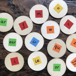 Eco friendly phonics circles, counters