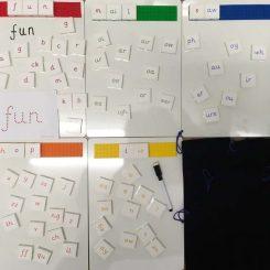 Large - 3cm square word building phonics kit complete