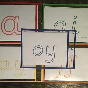 Large, Colour coded letters for wipe clean folders