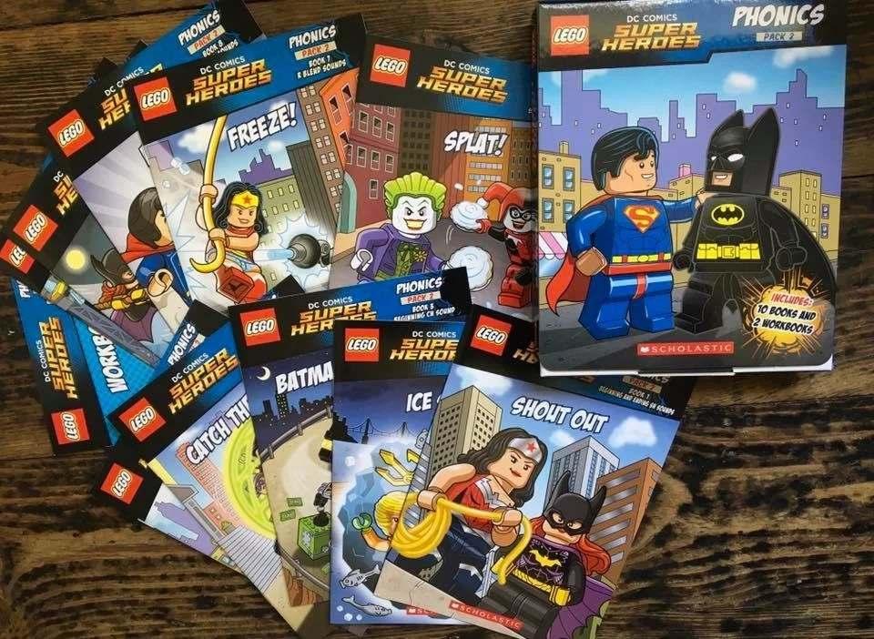 Lego superhero phonics books