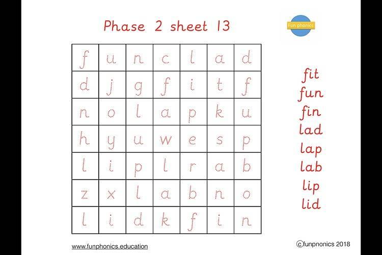 PRE CURSIVE Phase 2 word searches PDF (digital file) - Gallery 2