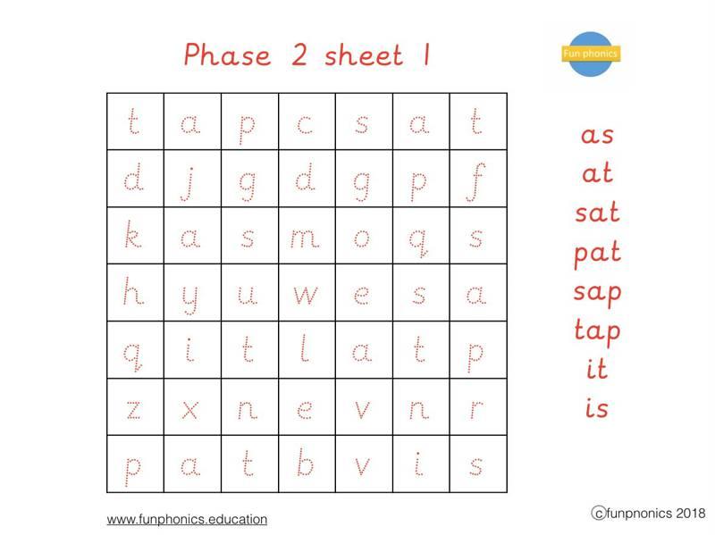 PRE CURSIVE Phase 2 word searches PDF (digital file)