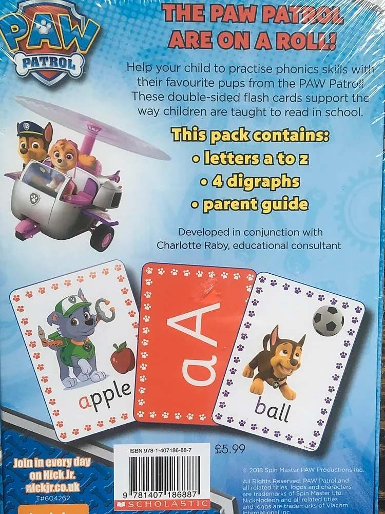 Paw Patrol phonics flashcards - Gallery 1