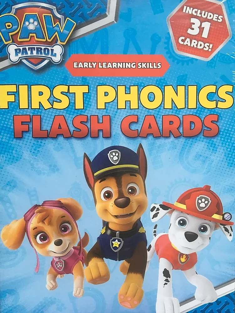 Paw Patrol phonics flashcards