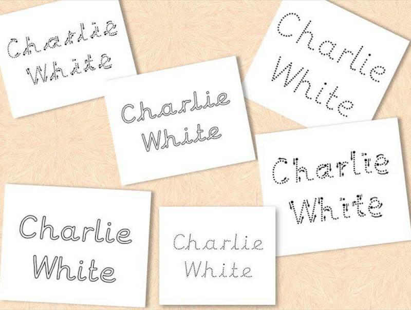Personalised A4 phonics name labels! PDF digital file