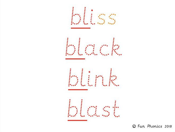 Phase 4 handwriting flash cards - Phonics