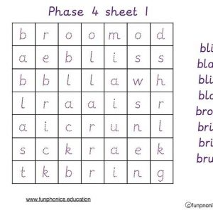 Phase 4 word searches