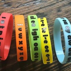 Youth size phonics wristbands