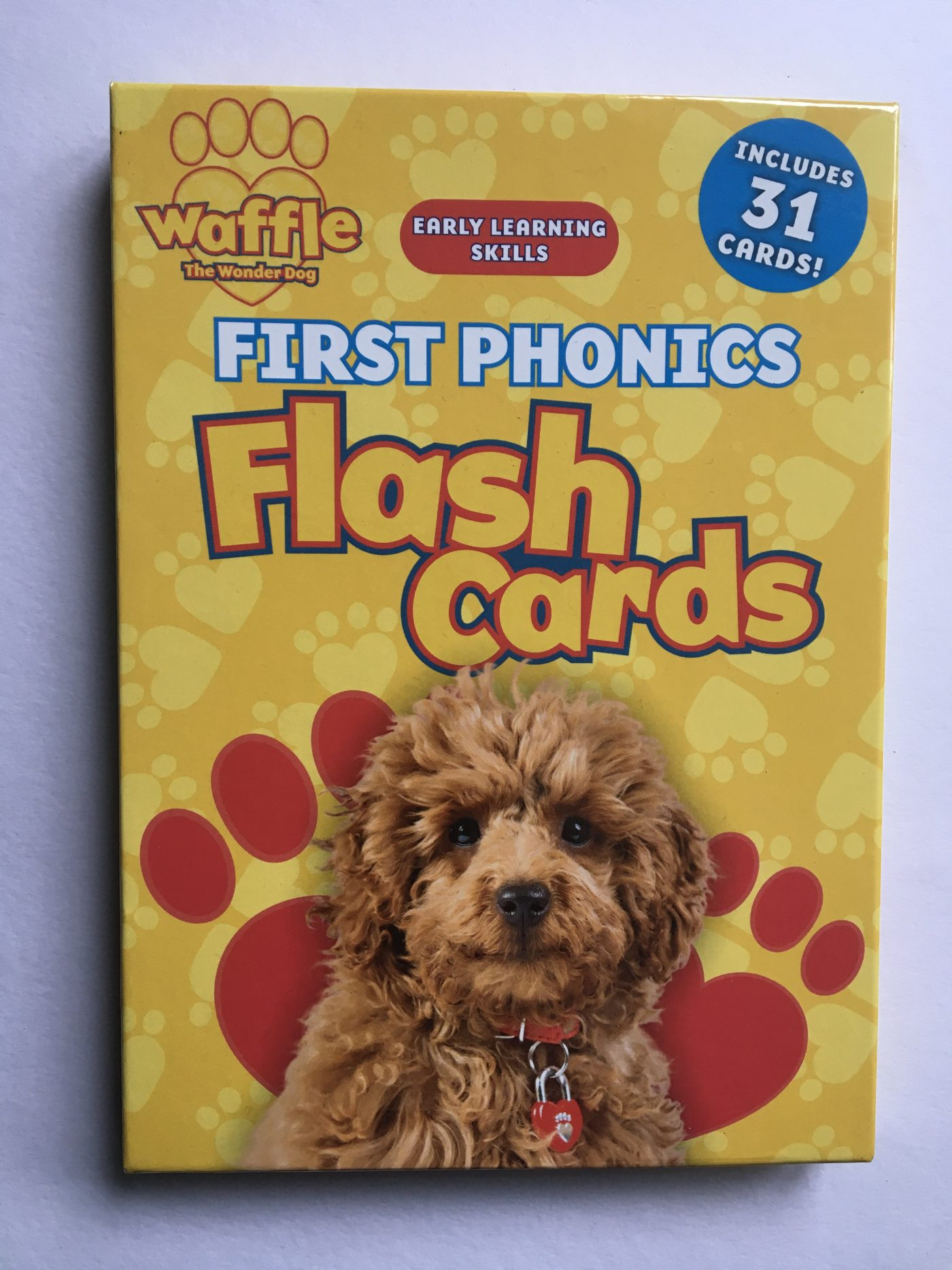 Waffle the Wonder Dog first phonics flash cards