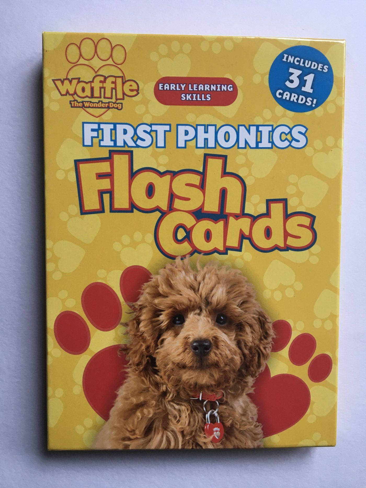 Waffle the Wonder Dog first phonics flash cards