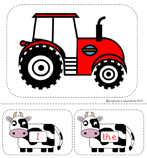 Phase 2 Tricky Word Cows