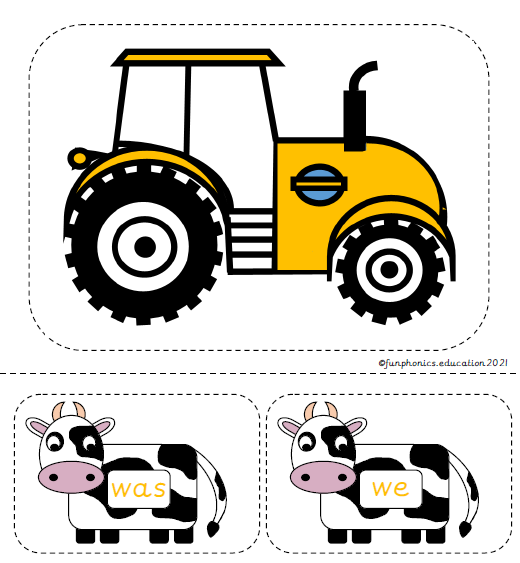 Phase 3a Tricky Word Cows