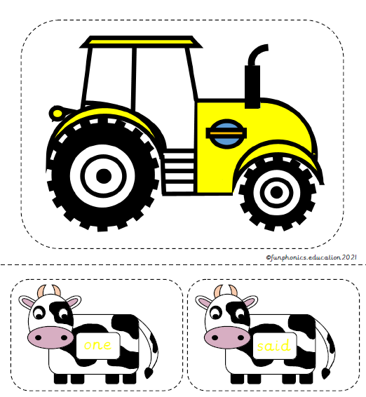 Phase 5a Tricky Word Cows
