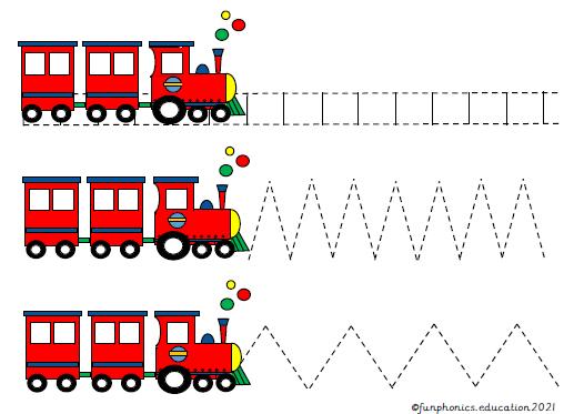 Phase 1 Runaway Train Prewriting Activity Sheet