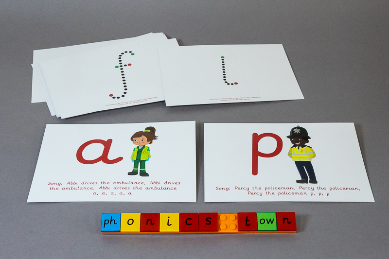 Phase 2 Phonics Town flash cards