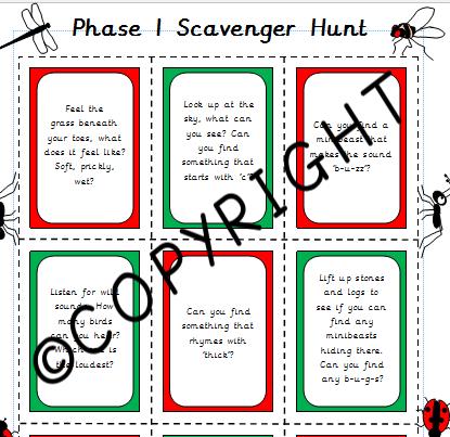 Phase 1 Scavenger Hunt Cards
