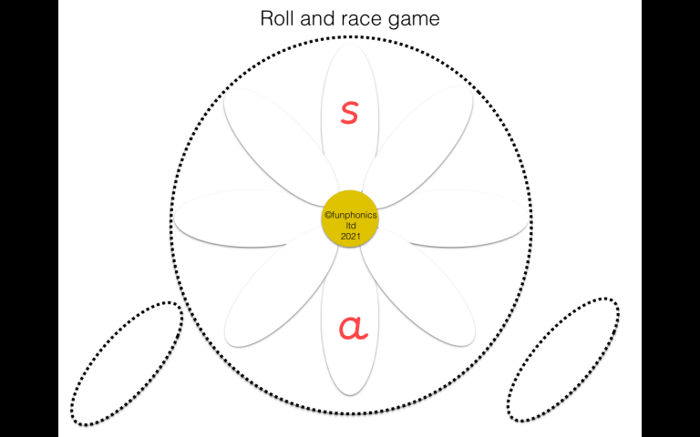 Roll a flower s,a,t,p,i,n, game